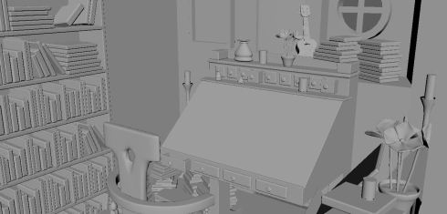 Bilbo's Study 3D Model